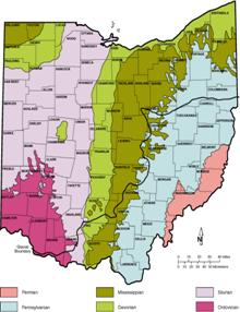 Southwestern Ohio Map.Geology Of Southwestern Ohio