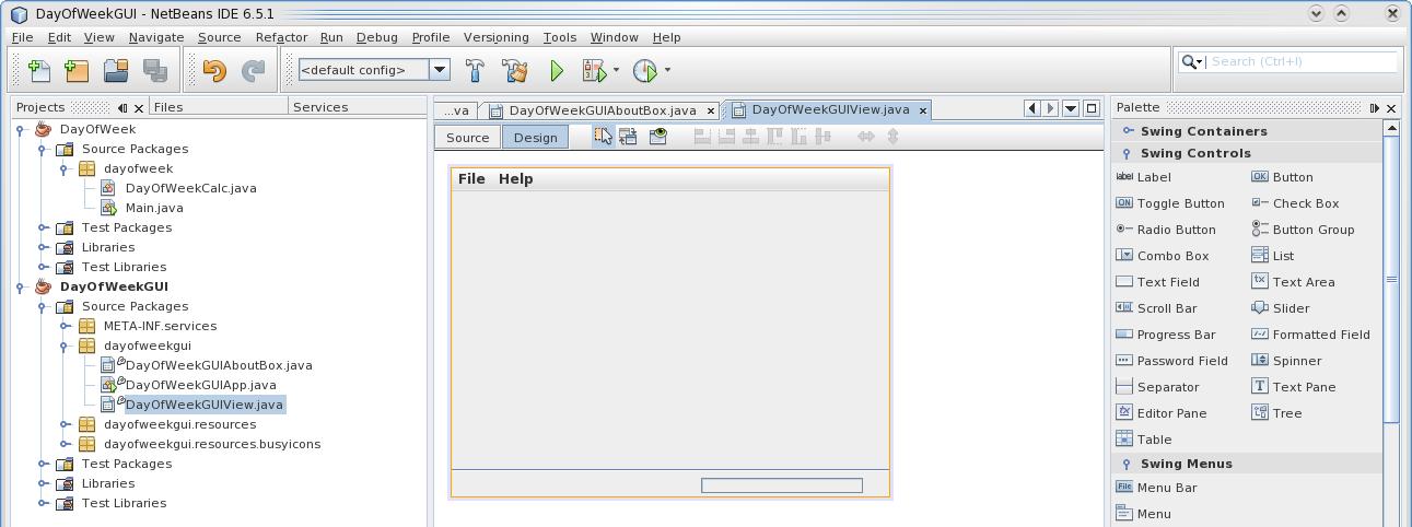 NetBeans - Build a GUI