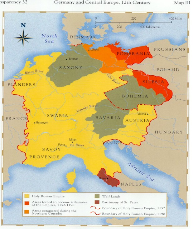 HISTORY - Germany map middle ages
